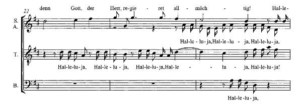Notenbeispiel für Chor