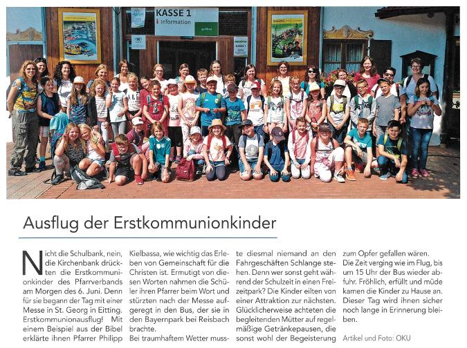 2019-07-12_Pressebericht_Ausflug_Erstkommunionkinder_PV_Oberdinger_Kurier_03