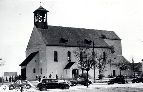 Die ehemalige Herz jesu Kirche in Gräfelfing