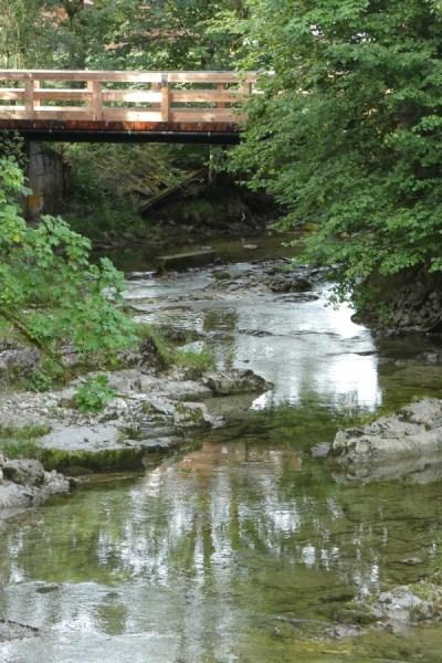 Grenzenlos-Wanderweg Prienbrücke zwischen Aschau und Sachrang