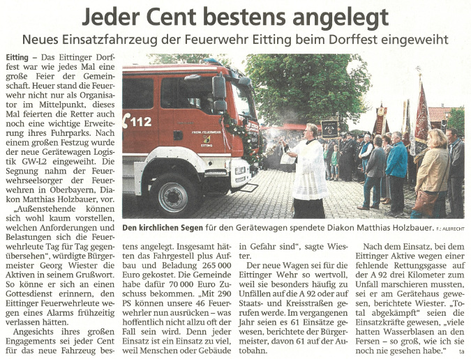 2019-08-06_Pressebericht_Fahrzeugsegnung_Feuerwehr_Eitting_Erdinger_Anzeiger_03
