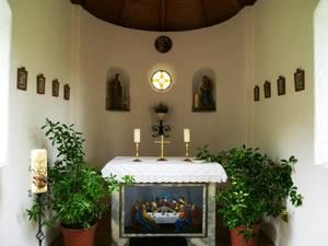 Kapelle in Niedermoosen von innen