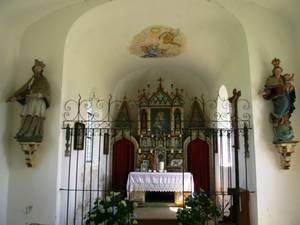 Kapelle in Petzgersdorf von innen