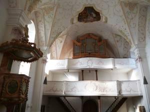 Empore und Orgelbühne Hirnsberg