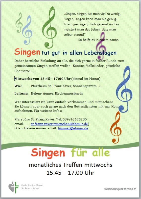 Singen für alle