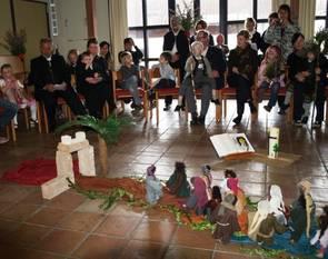 Bodenbild und Situation eines Kindergottesdienstes