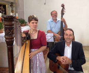 Foto der drei Musiker der Familiengottesdienst Musik Riedering