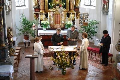 Wortgottesfeier in Grünbach-Flossing