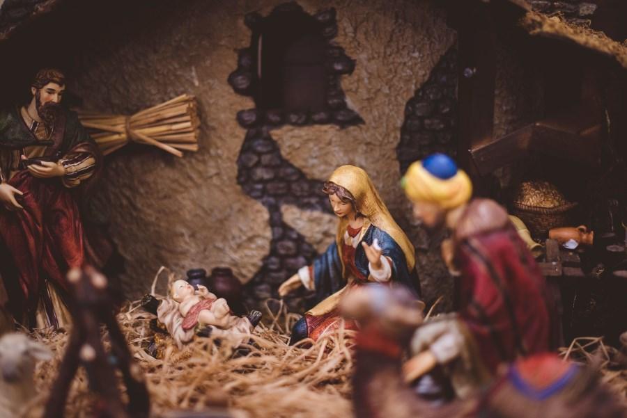 Krippenfiguren der Heiligen Familie