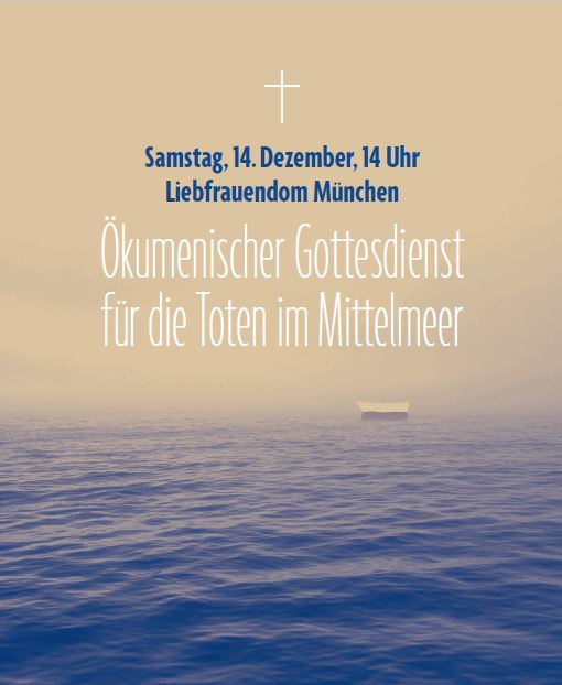 Plakat 14.12.2019 Ökumenischer Gottesdienst für die Toten im Mittelmeer