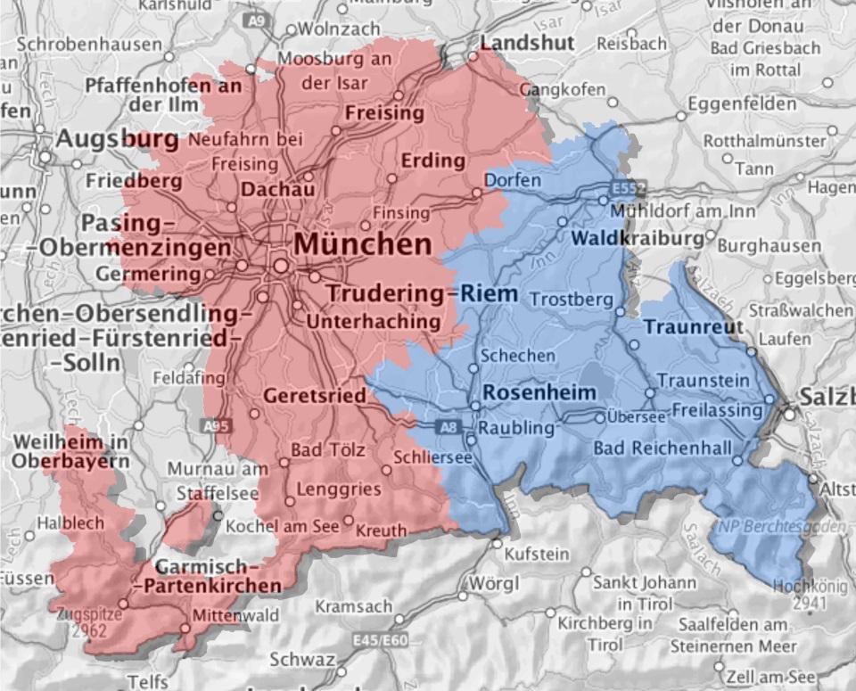 Karte - Erzbistum
