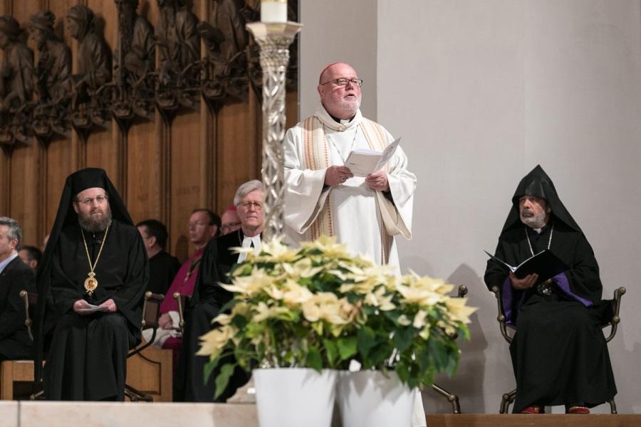 Kardinal Reinhard Marx beim ökumenischen Gottesdienst zur Gebetswoche für die Einheit der Christen 2020