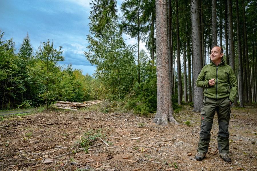 Torsten Ehnle steht am Waldrand