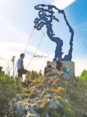Skulptur auf dem Rauschberg