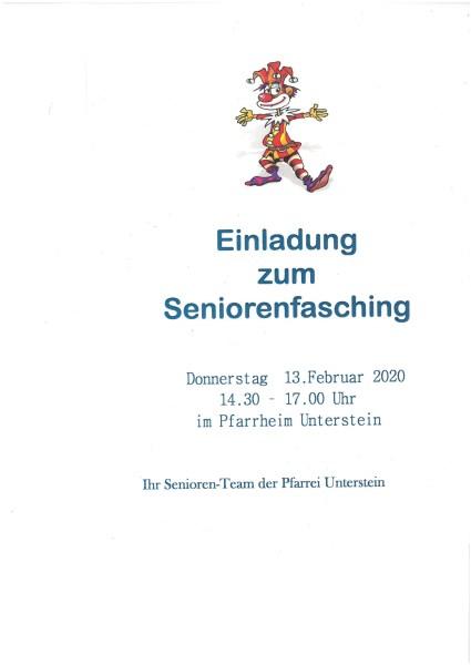 Plakat Sen.Fasching 2020