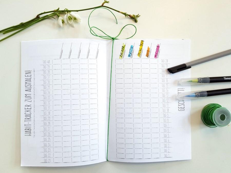Habit-Tracker Fastentagebuch zum Selbermachen