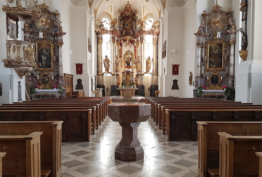 St. Ägidius, Grafing, Innenansicht