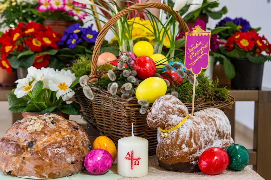 Korb zur Speisenweihe an Ostern