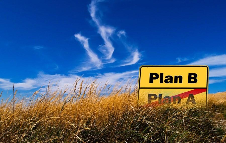 Verkehrsschild mit Plan B