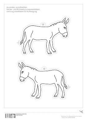 Ausmalvorlage Esel