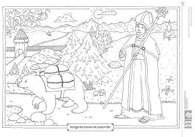 Heiliger Korbinian mit Bär