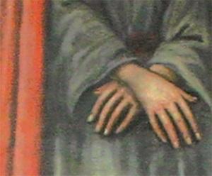 Gemälde Ausschnitt gefesselte Hände Jesu