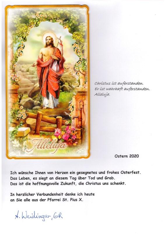 OSTERGRUSS an die Pfarrei St_Pius_X