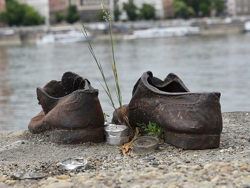 Schuhe Ufer Gedenken