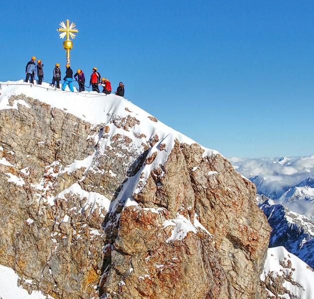 Zugspitze Berg Ausblick Höhepunkt