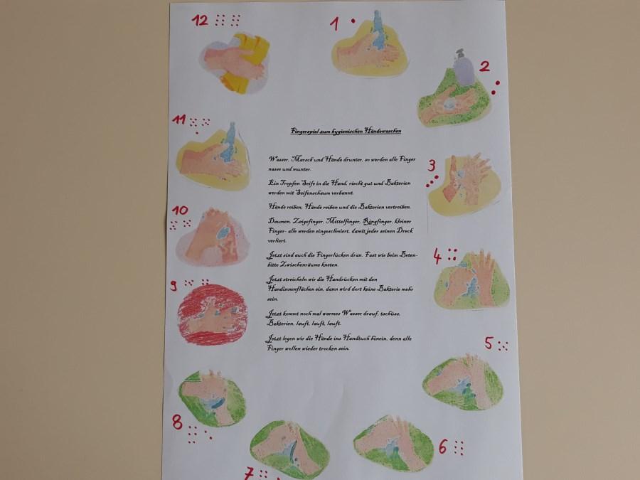 Hände waschen Plakat 2