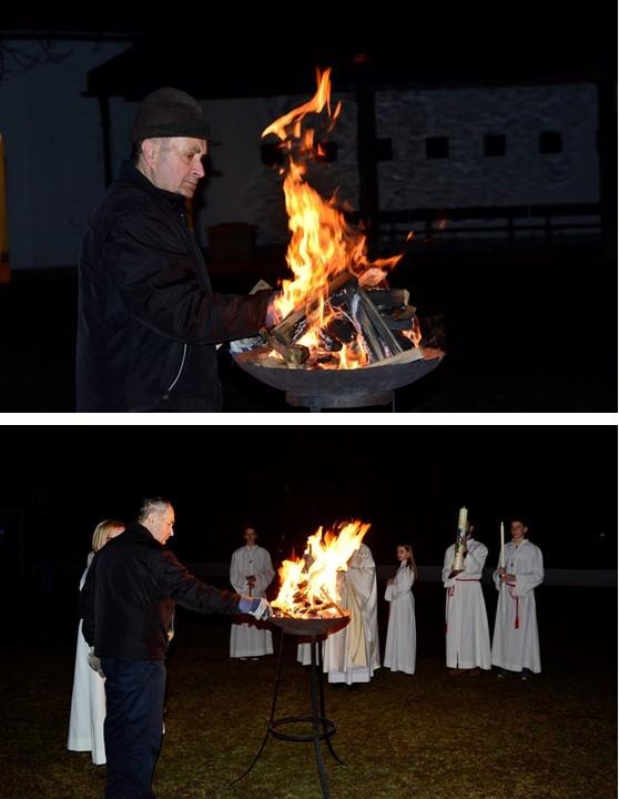 Bilder vom Osterfeuer
