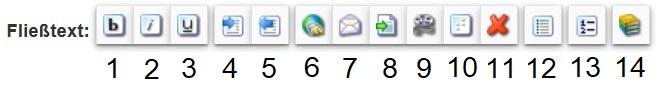 Zeigt die Formattierungs Icons im Fließtext Modul