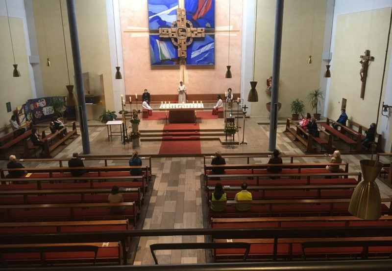 Erster (Corona) Sonntagsgottesdienst in St. Pius X.