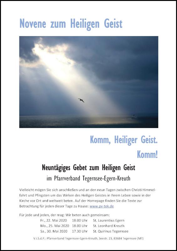 Plakat Novene zum Heiligen Geist1