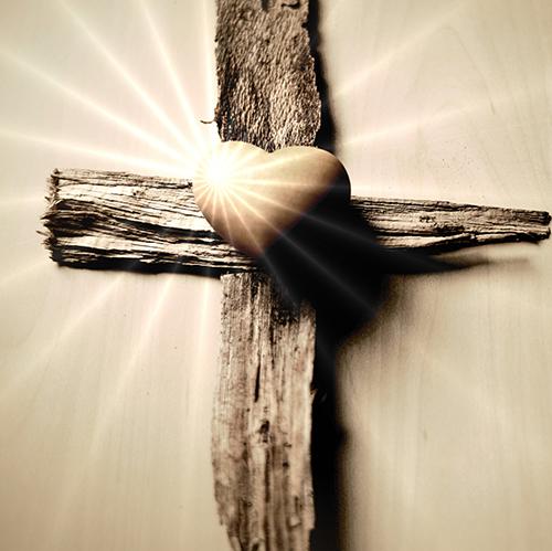 Kreuz Herz