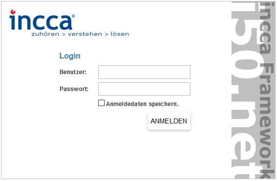 Zeigt die Startseite des internen CMs Zugangs.
