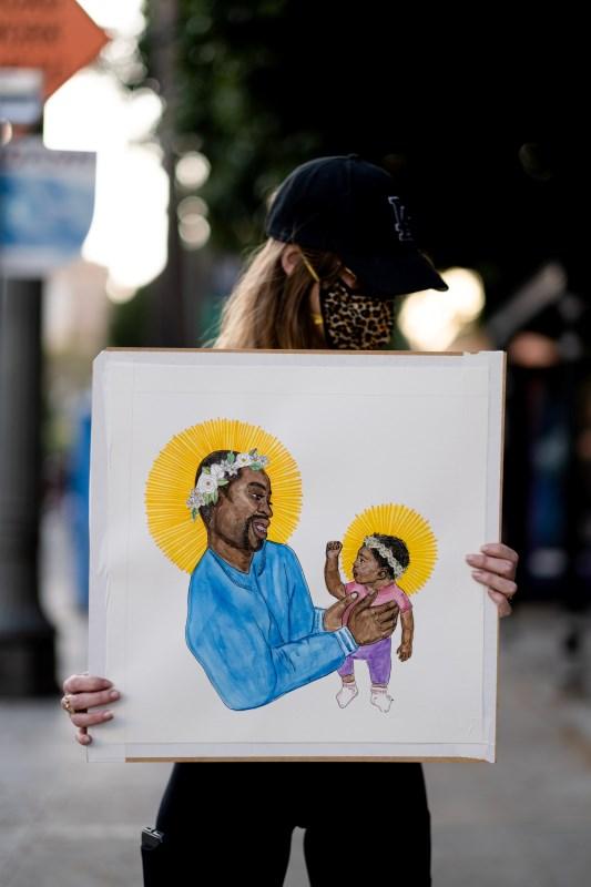 Black Lives Matter (BLM)-Marsch am Rathaus von Los Angeles
