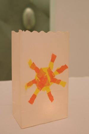 Lichtttüte aus Papier basteln
