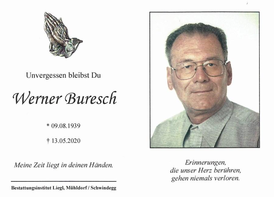Buresch Werner_Sterbebild