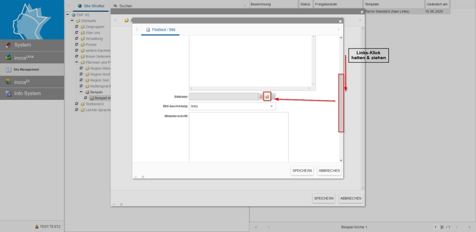 Bildserie zeigt, wie man neue Inhalte in einer Webseite anlegt. (6)