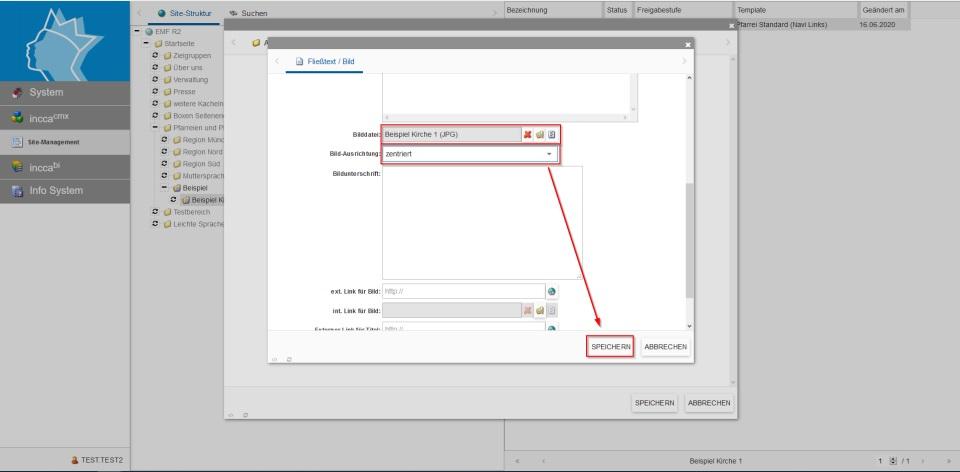 Bildserie zeigt, wie man neue Inhalte in einer Webseite anlegt. (8)