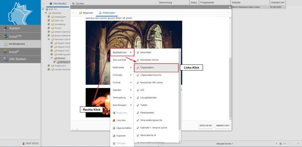 Bildserie zeigt, wie man neue Inhalte in einer Webseite anlegt. (11)