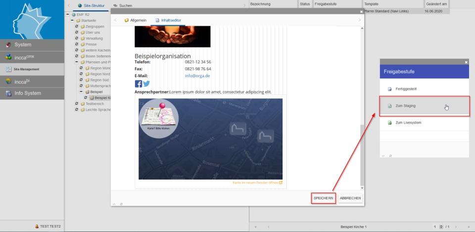 Bildserie zeigt, wie man neue Inhalte in einer Webseite anlegt. (14)