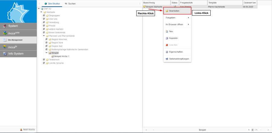 Bildserie zeigt Anleitung um eine Webseiten zu Verknüpfen und eine Datei zum Download anzubieten. (1)
