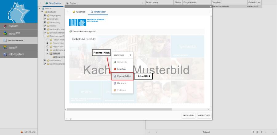 Bildserie zeigt Anleitung um eine Webseiten zu Verknüpfen und eine Datei zum Download anzubieten. (2)