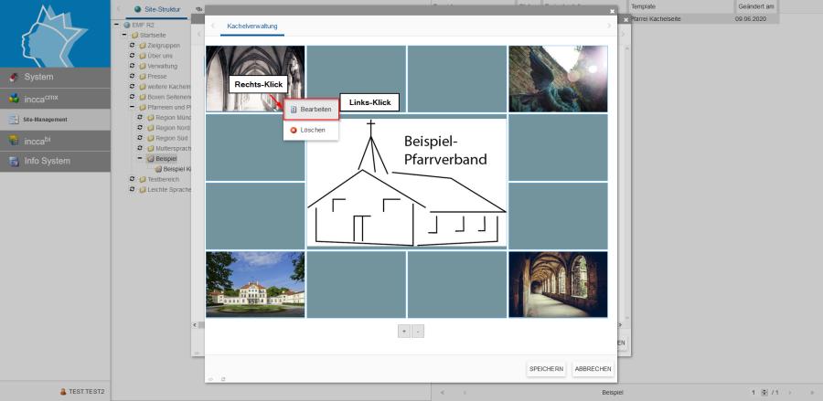 Bildserie zeigt Anleitung um eine Webseiten zu Verknüpfen und eine Datei zum Download anzubieten. (3)