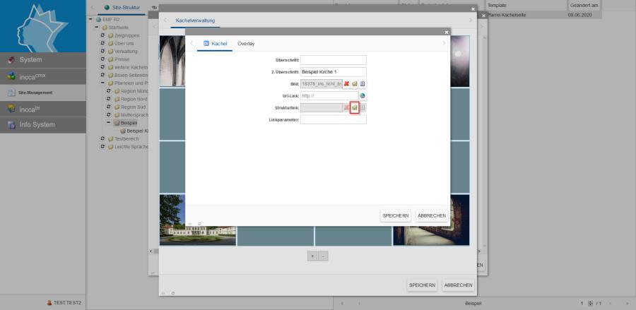 Bildserie zeigt Anleitung um eine Webseiten zu Verknüpfen und eine Datei zum Download anzubieten. (4A)