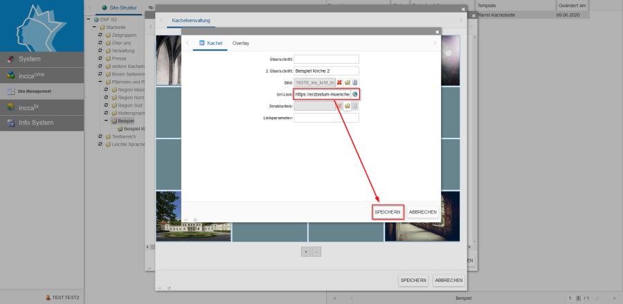 Bildserie zeigt Anleitung um eine Webseiten zu Verknüpfen und eine Datei zum Download anzubieten. (4B)