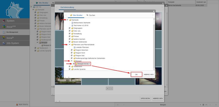 Bildserie zeigt Anleitung um eine Webseiten zu Verknüpfen und eine Datei zum Download anzubieten. (5)