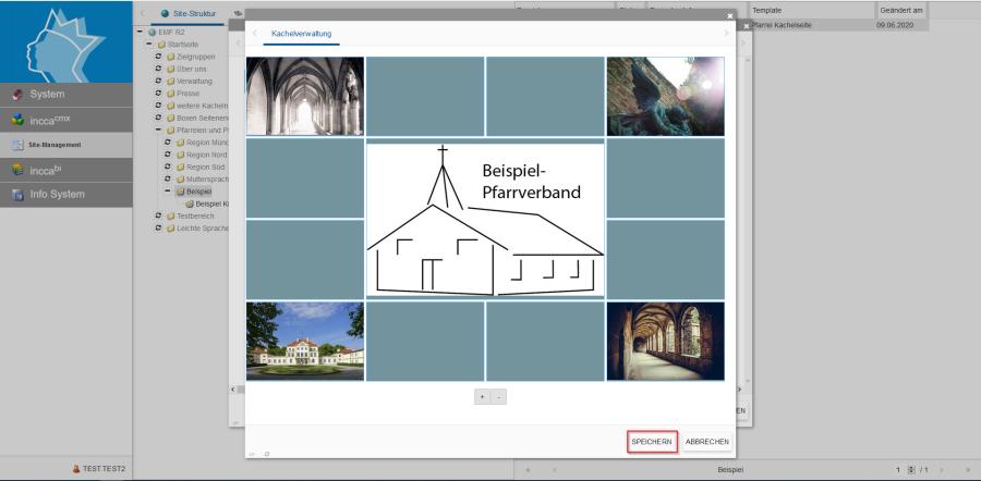 Bildserie zeigt Anleitung um eine Webseiten zu Verknüpfen und eine Datei zum Download anzubieten. (7)
